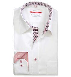 Modern Fit polopriliehavá biela jednofarebná košeľa Popelín (plátnová tkanina) Leto, Shirt Dress, Mens Tops, Shirts, Dresses, Fashion, Vestidos, Moda, Shirtdress