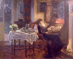 The Quiet Hour, 1913, Albert Chevallier Tayler. English (1862 - 1925)