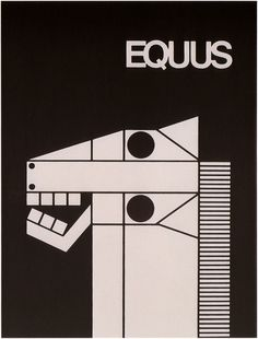 EQUUS. Authorship: Armin Hofmann; Country: Switzerland; Date: 1963.  ***Geometric Shapes