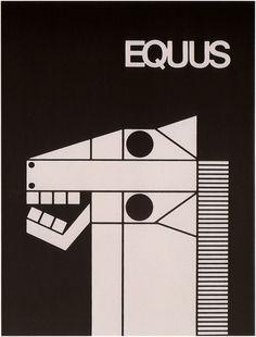 EQUUS. Authorship: Armin Hofmann; Country: Switzerland; Date: 1963. ***Geometric Shapes #graphismesuisse #jetudielacom