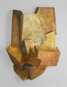 Bruce Beasley - Ancile, cast bronze with patina, wall sculpture, 38h x 28w x 9d