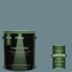 BEHR MARQUEE 1-gal. #MQ6-3 Winter in Paris Semi-Gloss Enamel Exterior Paint 545301 at The Home Depot - Mobile
