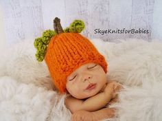 My Little Pumpkin Hat for Baby, Beautiful Photo Prop on Etsy, $16.90