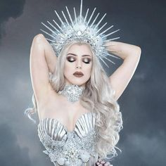 Our beautiful Silver Siren Bra is finally available made-to-order! This delectable piece is a gorgeous must-have for every siren planning to lure her admirers into their untimely death... Embellished with Swarovski crystals and lush silver lace, it is lovingly made, light-weight and waterproof, it