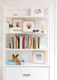 A bookshelf full of our favorite framed Instagram pictures from Framebridge!