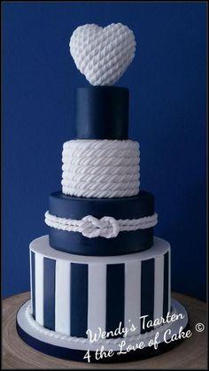 Nautical wedding cake by Wendy Schlagwein