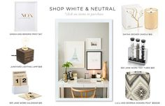 west elm white parsons lacquer desk | How to Style the West Elm Parsons Desk #theeverygirl