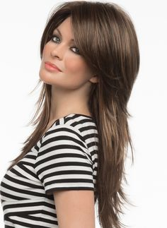 Sheena Lace Front Wig by Envy. This gorgeous fashion conscious look exudes sexy with flicked tips and it's length falling to mid-back. @ $253.00