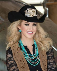 The new Miss Rodeo America--- Katherine Merck--Miss Rodeo Washington-SR Rodeo Girls, Rodeo Cowgirl, Sexy Cowgirl, Cowgirl Hats, Cowgirl Outfits, Cowgirl Style, Western Outfits, Western Wear, Western Style