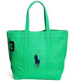 Polo Ralph Lauren Tote Bag in green.