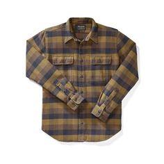 Filson Vintage Flannel Work Shirt   Brown & Navy