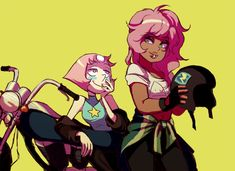 OMG I can't help it! I totally ship them now! ||| Steven Universe ||| Pearl and Mystery girl