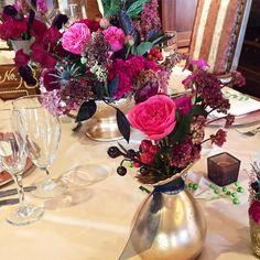 Very berry wedding....a favorite of last year #wedding #weddingdesign #countryclubweddings #hiddencreekgolfclub #tablescape #mystyle #berrycolors #navyaccents #gardenroses #davidaustinroses #berries #olivebranch #goldvases #southjerseyweddingflorist #gallowayweddingflorist #njweddings #njflorist #centerpiece #amaranthus #sedum #bluethistle #coxcomb #dvflora by betinas