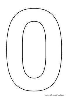 Fiches maternelles : chiffre à décorer. Le chiffre 0