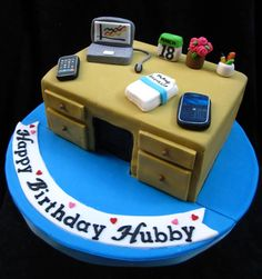 For the office hubby cake