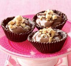 Hazelnut and Custard Cups - easy