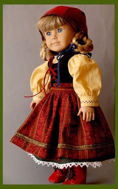 Kirsten's Holiday Dirndl  Petticoat is green