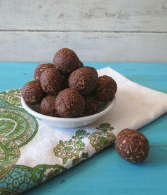 Avocado Chocolate Balls - try these with a tablespoon of xylitol instead of the brown sugar! One or two of these fudgey little treats would be perfect for after dinner on Phase 3.