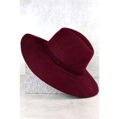Wishing on a Star Burgundy Fedora Hat