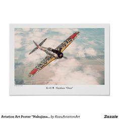 """Aviation Art Poster """"Nakajima Ki-43 隼 Oscar"""" プリント"""
