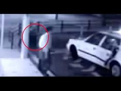 CCTV video shows mysterious female GHOST following a man into a taxi