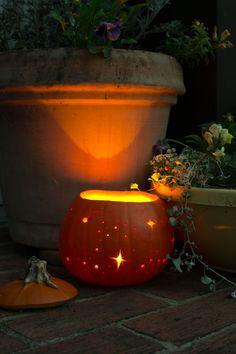 Starry Night Pumpkin Luminary