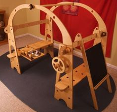 playstands play stands handmade Waldorf playstands that come apart quickly for easy storage using wooden nuts and bolts