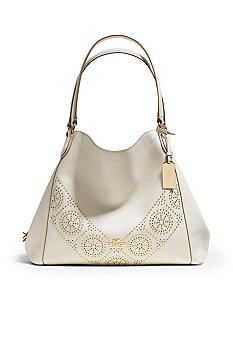 If you're looking to splurge, this Coach would be  a great piece to pick! Find this beautiful bag at Belk.