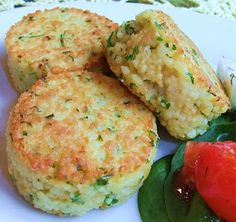 Moogie & Pap: Couscous Cakes with Caribbean Jerk Cucumbers
