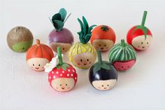 How about making some cute fruit and veg to remind you of a New Year's resolution to eat more healthily! These are made from little w...