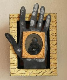 The Hand, mixed media assemblage by Anastasia Osolin