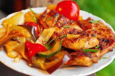 Grilované kuracie stehná /prsia/ s grilovanou zeleninou