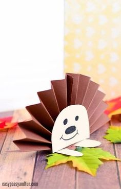 Paper Rosette Hedgehog - Easy Peasy and Fun Easy Fall Crafts, Fall Crafts For Kids, Paper Crafts For Kids, Toddler Crafts, Art For Kids, Hedgehog Craft, Paper Rosettes, Autumn Activities, Autumn Theme