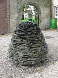 A cone of stones, by Andy Goldsworthy