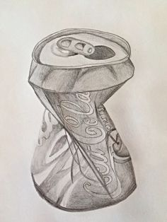 how to draw a coke can step by step