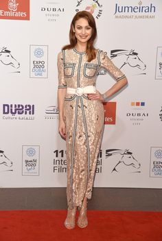 "Olga Kurylenko in Alessandra Rich SS15 - ""The Water Diviner"" premiere during day two of the 11th Annual Dubai International Film Festival on December 11, 2014 in Dubai, United Arab Emirates."