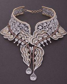 Tribhovandas Bhimji Zaveri Jewellery | Tribhovandas Bhimji Zaveri Pictures - jewelry, geometric, swarovski, crystal, necklaces, geometric jewellery *ad