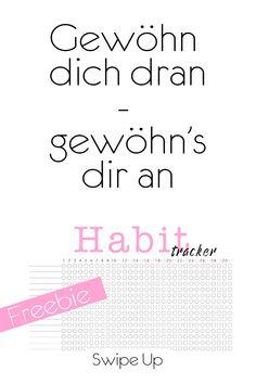 Habit Tracker freebie #Softy2404 Life Hacks, Words, Wall, Blog, Tips And Tricks, Printing, Simple, Horse, Lifehacks