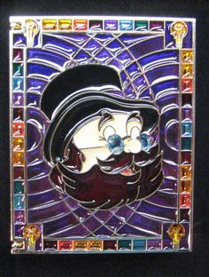 Disney PIN Storybook Jumbo STAINED GLASS FIGMENT IMAGINATION DREAMFINDER LE
