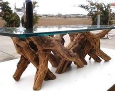 custommadedotcom:  This Old Vine Grapevine Coffee Table is custom made from 60-100 year old *retired* grape vines from California's premiere wine growing region.by Wine Country Caftsman