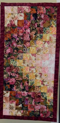 Down the Garden Path quilted table by Quiltsbysuewaldrep on Etsy