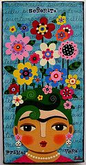 Señorita Frida Kahlo Primavera painting by LuLu | Flickr - Photo Sharing!
