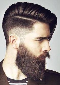 perfect beard style with pompadour