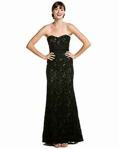 Misc like; just appreciating the dress  Badgley Mischka Black Lace Strapless Gown