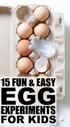 Looking for science projects to keep your children from climbing the walls? You're in good company. We've rounded up 15 fabulous egg experiments for kids to help make learning fun! These educational activities offer the perfect way to spend quality time with your little ones – all you have to do is add a little vinegar and baking soda and have fun!