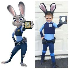 3 Zootopia Officer Judy Hopps Cosplay Costume ❤ ॐ ...
