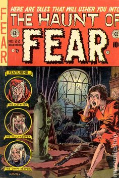 The Haunt of Fear ~ Art by Graham Ingels Vintage Comic Books, Vintage Comics, Comic Books Art, Comic Art, Book Art, Vintage Art, Sci Fi Comics, Horror Comics, Horror Art