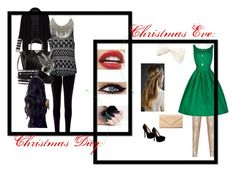 """ChristmasEve&ChristmasDay"" by cotton-candy-clouds143 ❤ liked on Polyvore featuring BCBGMAXAZRIA, Monsoon, Ally Fashion, Valentino, Lulu Frost, Chan Luu, Qupid and Carré Royal"