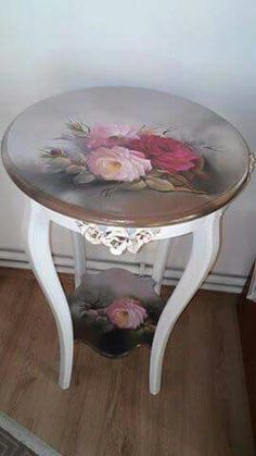Elegant decoupage table
