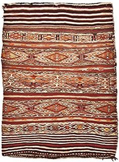 Kelim Kilim Vintage Teppich original mut 90x120 cm Wolle